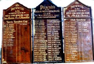 Original Honours Boards
